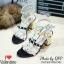 รองเท้า Valentino pumps rainbow color t-strap rockstud (สีดำ) thumbnail 1