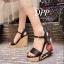 รองเท้าส้นเตารีด Platform GC (สีแดง) thumbnail 14