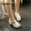 พร้อมส่ง : รองเท้าStyle nanda Shoesหน้าสาน (สีดำ) thumbnail 4