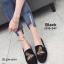 รองเท้าส้นแบนทรงสวมปักลายผึ้ง (สีดำ) thumbnail 3
