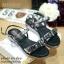 พร้อมส่ง : รองเท้าแตะเสริมส้น MIUMIU (สีดำ) thumbnail 1