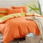 (Pre-order) ชุดผ้าปูที่นอน ปลอกหมอน ปลอกผ้าห่ม ผ้าคลุมเตียง ผ้าฝ้าย สีพื้น สีส้ม thumbnail 1