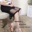 รองเท้าส้นตันสายไขว้สไตล์ลำลอง (สีครีม) thumbnail 5