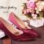 พร้อมส่ง : รองเท้าคัชชูผ้าซาติน (สีแดง) thumbnail 2