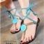 รองเท้าแตะซิลิโคนพันขา (สีฟ้า) thumbnail 1