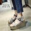 รองเท้าส้นเตารีดส้นหวาย (สีเทา) thumbnail 2