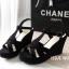 พร้อมส่ง : รองเท้าส้นเตารีดเกาหลี (สีดำ) thumbnail 1