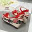 รองเท้าส้นเตารีด Platform GC (สีแดง) thumbnail 4