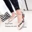 รองเท้าส้นแบนลายดอก Style Gucci (สีดำ) thumbnail 4