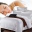 (Pre-order) ชุดผ้าปูที่นอน ปลอกหมอน ปลอกผ้าห่ม ผ้าคลุมเตียง ผ้าฝ้ายผสมสีขาว เนื้อละเอียดทอลายริ้วในตัว thumbnail 4