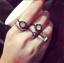 R-23.แหวนแฟชั่น 5 ชิ้น สีดำ thumbnail 2