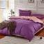 (Pre-order) ชุดผ้าปูที่นอน ปลอกหมอน ปลอกผ้าห่ม ผ้าคลุมเตียง ผ้าฝ้าย สีพื้น สีม่วง thumbnail 1
