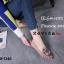 รองเท้าคัทชูทรงสวมปักลายผึ้ง Style Gucci (สีครีม) thumbnail 15