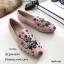 รองเท้าคัทชูทรงสวมปักลายผึ้ง Style Gucci (สีครีม) thumbnail 10