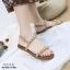 รองเท้าแต่งมุกสไตล์ลำลอง (สีน้ำตาล) thumbnail 1