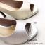 รองเท้าคัทชูกลิตเตอร์เปิดเท้า (สีเงิน) thumbnail 8
