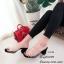 รองเท้าส้นตันสวมใสนิ่ม (สีดำ) thumbnail 2