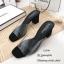 รองเท้าส้นตันสวมใสนิ่ม (สีดำ) thumbnail 3