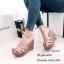 รองเท้าส้นเตารีดหนังเงา Style YSL (สีครีม) thumbnail 3