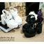 พร้อมส่ง : รองเท้าสไตล์เกาหลีลายลูกไม้ (สีดำ) thumbnail 3