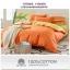 (Pre-order) ชุดผ้าปูที่นอน ปลอกหมอน ปลอกผ้าห่ม ผ้าคลุมเตียง ผ้าฝ้าย สีพื้น สีส้ม thumbnail 2