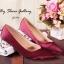 พร้อมส่ง : รองเท้าคัชชูผ้าซาติน (สีแดง) thumbnail 1