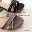 รองเท้ารัดส้นหนังกลิตเตอร์ (สีเทา) thumbnail 6