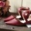 พร้อมส่ง : รองเท้าหัวแหลมหนังนิ่ม (สีครีม) thumbnail 4