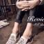 รองเท้าผ้าใบเสริมส้นแต่งลายลูกไม้ (สีขาว) thumbnail 3