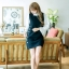 ชุดเดรสสั้น เสื้อสีดำ แขนยาว รหัสสินค้า 8-8940-ดำ thumbnail 7