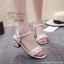 รองเท้าส้นตันแต่งมุกสไตล์ Gucci (สีดำ) thumbnail 4