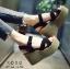 รองเท้าส้นเตารีดส้นหวาย (สีเทา) thumbnail 4