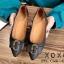รองเท้าส้นแบนแต่งอะไหล่ Style Gucci (สีครีม) thumbnail 8