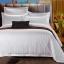 (Pre-order) ชุดผ้าปูที่นอน ปลอกหมอน ปลอกผ้าห่ม ผ้าคลุมเตียง ผ้าฝ้ายผสมสีขาว เนื้อละเอียดทอลายริ้วในตัว thumbnail 2