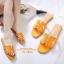 รองเท้าแตะ Style Hermes ฉลุลาย (สีน้ำตาล) thumbnail 6