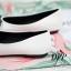 รองเท้าคัทชูส้นแบนแต่งหัวใจ (สีขาว) thumbnail 4