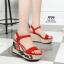 รองเท้าส้นเตารีด Platform GC (สีแดง) thumbnail 1