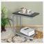 Pre-order โต๊ะแล็ปท็อป โต๊ะวางคอมพิวเตอร์ โต๊ะทำงาน โต๊ะวางถ้วยกาแฟ มีล้อเลื่อน สีโอ๊คเหลือง thumbnail 6