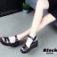 รองเท้าส้นเตารีด Platformสไตล์ลำลอง (สีชมพู) thumbnail 9