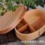(พร้อมส่ง) กล่องข้าวไม้ กล่องข้าวญีปุ่น เบนโตะ กล่องห่ออาหารกลางวัน ไม้ Hemloc ทรงรี สีบีช สำเนา thumbnail 8