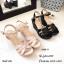 รองเท้าส้นเตารีดหนังเงาสไตล์ YSL (สีดำ) thumbnail 7