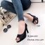 รองเท้าคัทชูกลิตเตอร์เปิดเท้า (สีเงิน) thumbnail 5