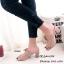 รองเท้าเปิดส้นแต่งโบว์กำมะหยี่ (สีดำ) thumbnail 7