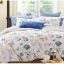 (Pre-order) ชุดผ้าปูที่นอน ปลอกหมอน ปลอกผ้าห่ม ผ้าคลุมเตียง ผ้าฝ้ายพิมพ์ลายดอกไม้สไตล์วินเทจ สีฟ้า thumbnail 2