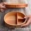 (พร้อมส่ง) กล่องข้าวไม้ กล่องข้าวญีปุ่น เบนโตะ กล่องห่ออาหารกลางวัน ไม้ Hemloc ทรงรี สีบีช สำเนา thumbnail 10