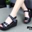 รองเท้าส้นเตารีด Platformสไตล์ลำลอง (สีชมพู) thumbnail 8