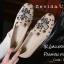รองเท้าคัทชูทรงสวมปักลายผึ้ง Style Gucci (สีครีม) thumbnail 4