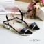 พร้อมส่ง : รองเท้าส้นเพชรสไตล์ Zara (สีครีม) thumbnail 2