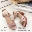 รองเท้าส้นตันสายไขว้สไตล์ลำลอง (สีครีม) thumbnail 10