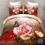 (Pre-order) ชุดผ้าปูที่นอน ปลอกหมอน ปลอกผ้าห่ม ผ้าคลุมเตียง ผ้าฝ้ายพิมพ์ 3D รูปกุหลาบชมพู thumbnail 1